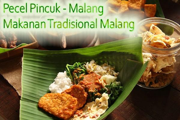 Pecel Pincuk Makanan Tradisional khas Kota Malang